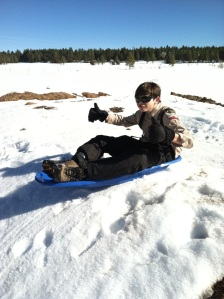 Paul On His Sled