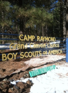 Snow Campout Location West of Flagstaff, Arizona