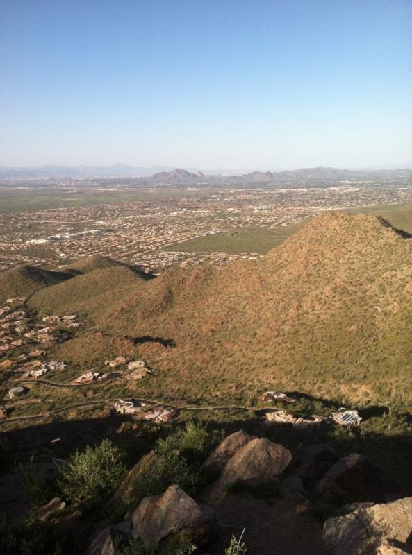 Steve Parker MD, hiking, hike, exercise, Sunrise Trail, Scottsdale Arizona