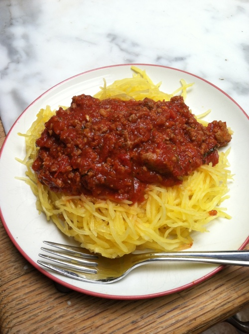 spaghetti squash, spaghetti