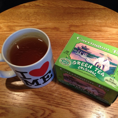 Green tea from Carrington Company out of Paramus, New Jersey